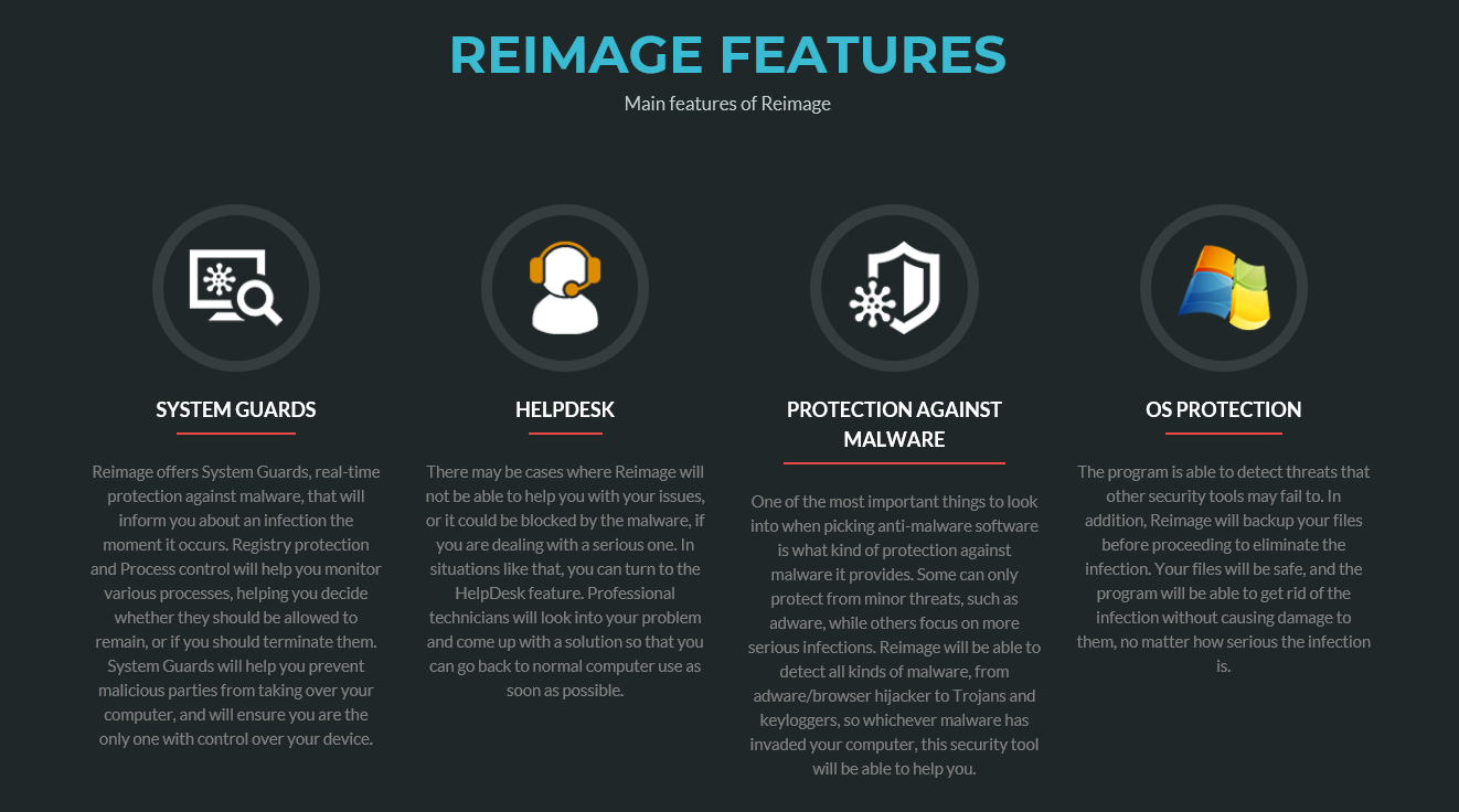 Reimage Main Features